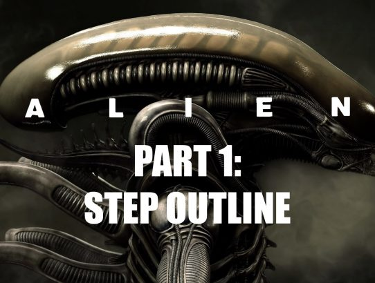Analysing films: Alien pt. 1 - Step outline