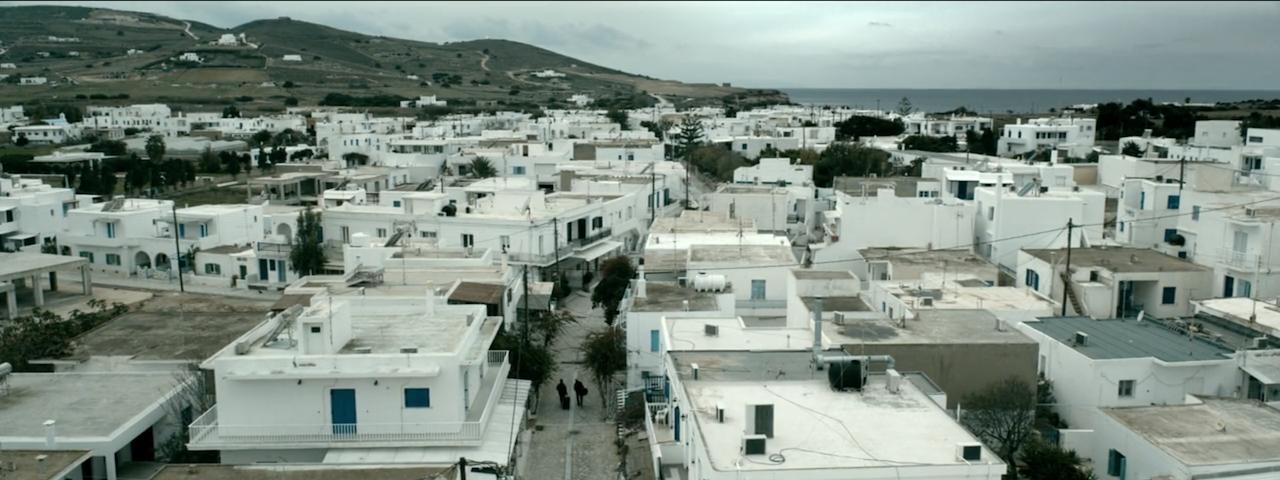 Άποψη της Χώρας της Αντιπάρου από ψηλά.