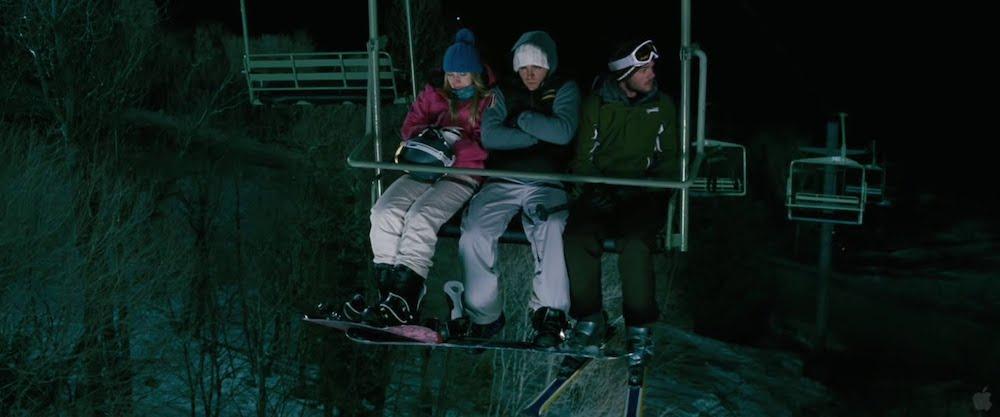 Οι τρεις σκιέρ ξεχασμένοι στο λιφτ, μέσα στη νύχτα.