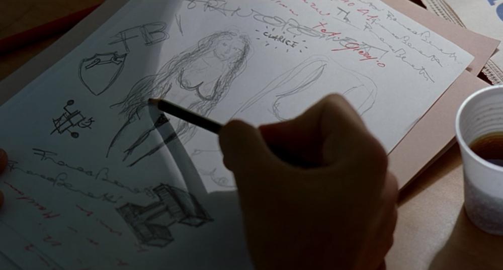 Ο Ιταλός αστυνομικός ζωγραφίζει την Κλαρίς όπως την φαντάζεται.